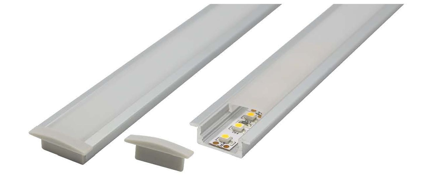 recessed shallow aluminium profile
