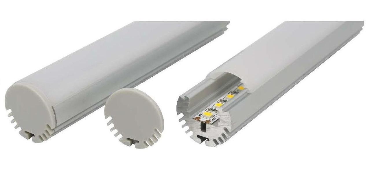slimline round aluminium profile