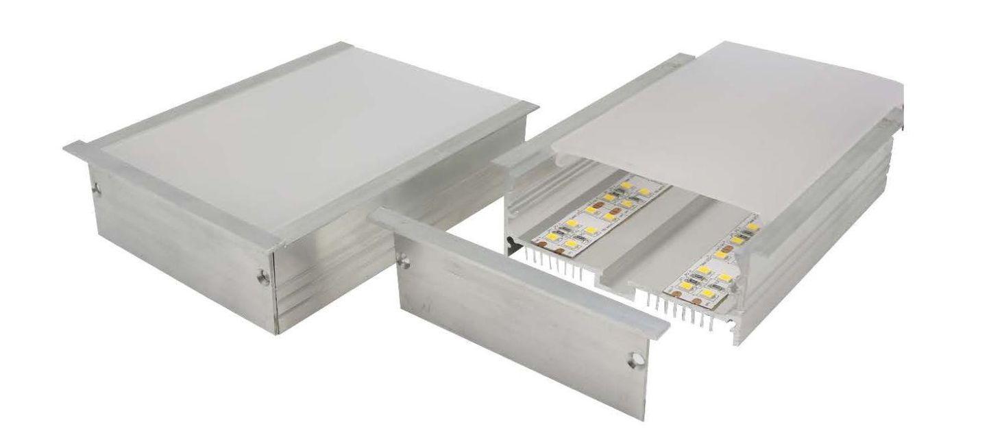 Australian made heavy duty recessed aluminium profile