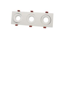 F4295-3 Triple fluted downlight frame