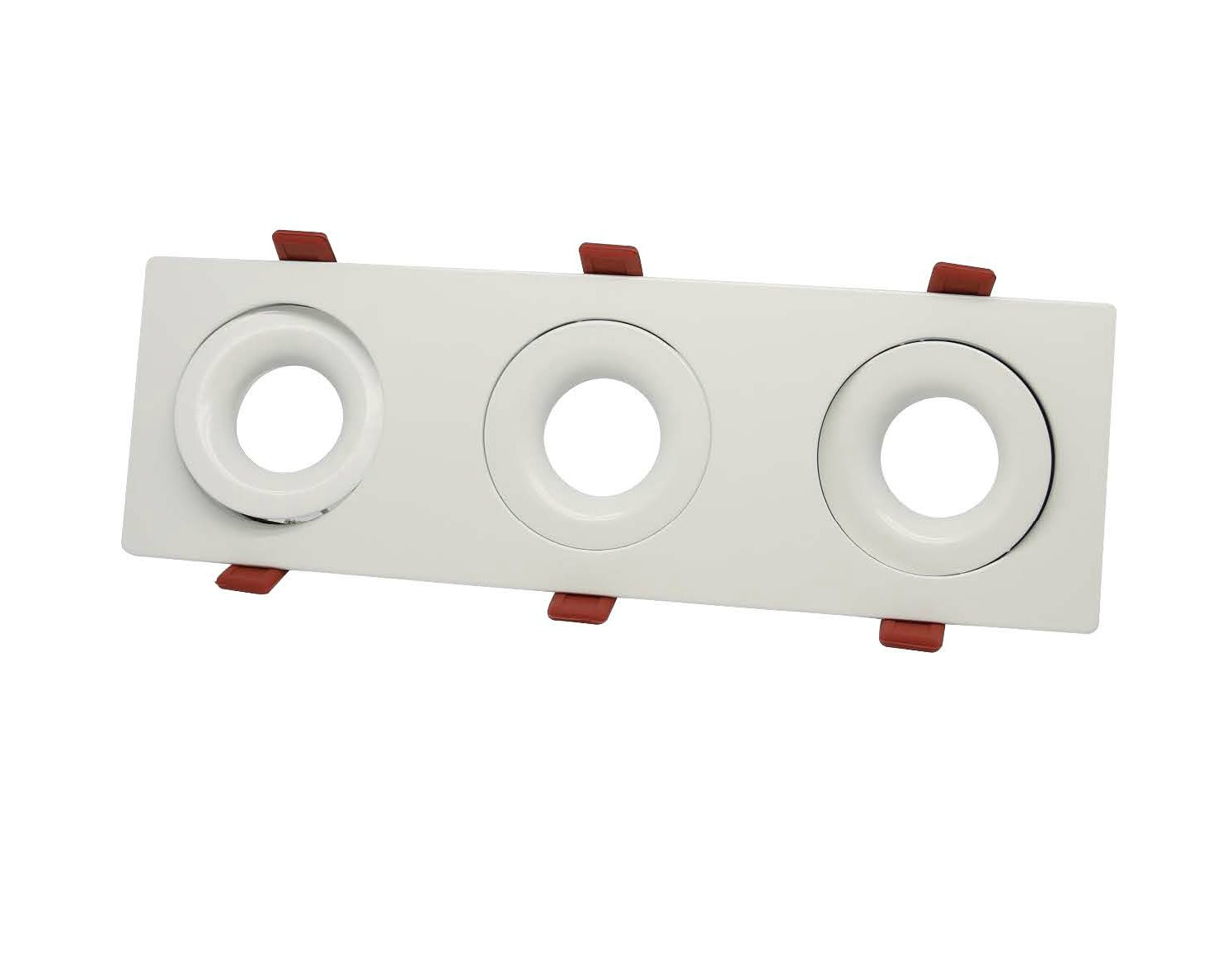 triple fluted downlight frame