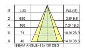 LED 100W Floodlight Graph