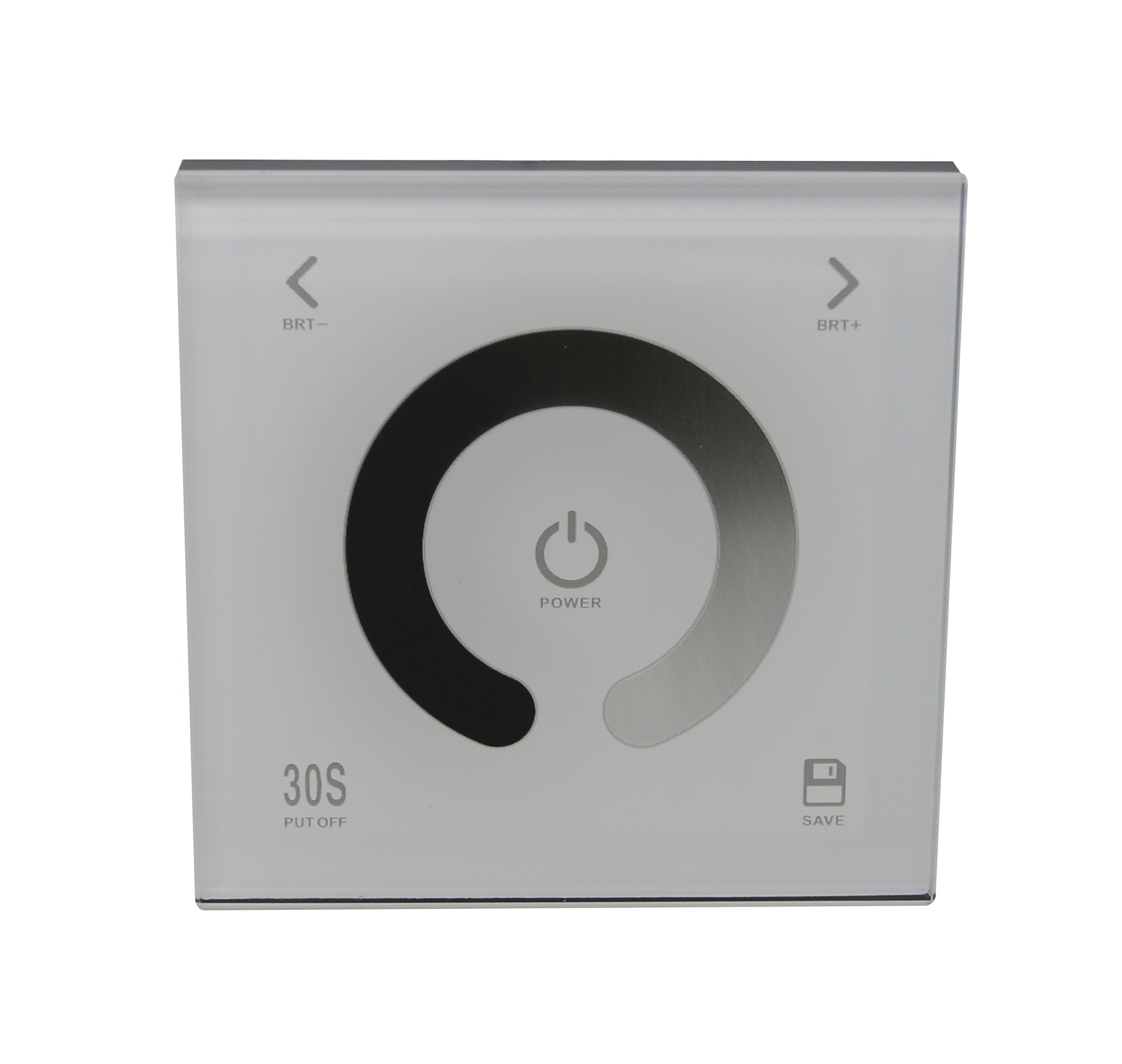 Wall touch panel dimmer