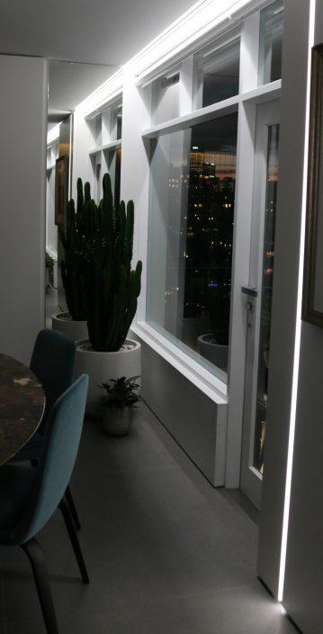 led lighting above window