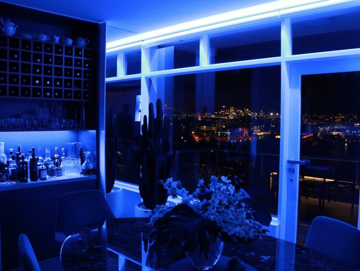 Blue LED lightning