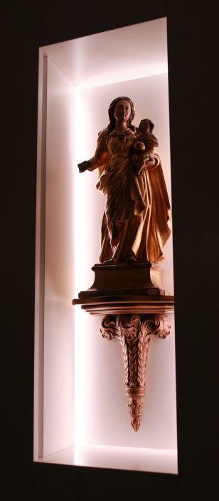 statue LED back lighting