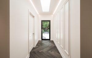 Hallway using Warm White LED Striplight